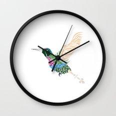 Abstract Hummingbird ~ Garnet-throated Variant Wall Clock