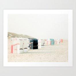 Coastal Cabanas Art Print