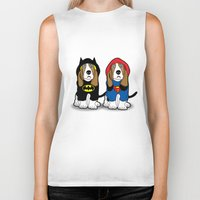 dogs Biker Tanks featuring dogs by mark ashkenazi