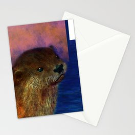 Otto the Otter Stationery Cards