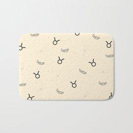 Taurus Pattern - Beige Bath Mat