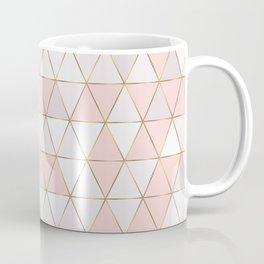 Pink geometrc trianges print Coffee Mug
