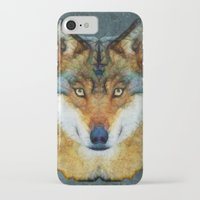 polygon iPhone & iPod Cases featuring polygon wolf by Ancello