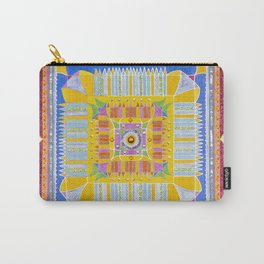Mandala sobre fondo plata Carry-All Pouch