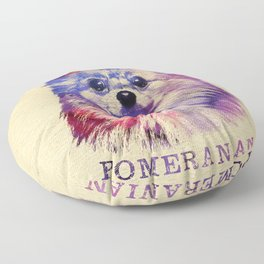 Cute Pomeranian German Spitz Floor Pillow