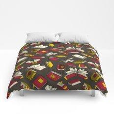 Spellbooks, maroon Comforters