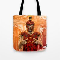 gladiator Tote Bags featuring German Gladiator Podolski by Akyanyme