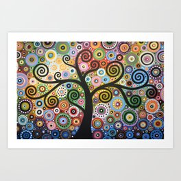 Abstract Art Landscape Original Painting ... She Dreams In Color Art Print
