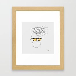 Unknown Man Portrait With Cool Haircut Framed Art Print