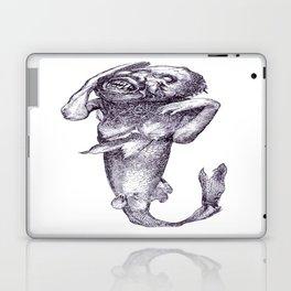 Halloween Horror Macabre Merman Meerjungfrau Vector Laptop & iPad Skin