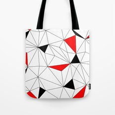 Geo - red, black and white Tote Bag
