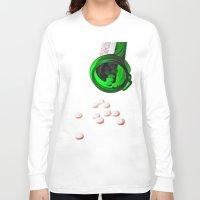 pills Long Sleeve T-shirts featuring pills by Dusty Snowman