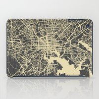 baltimore iPad Cases featuring Baltimore map by Map Map Maps
