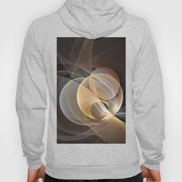 Brown, Beige And Gray Abstract Fractals Art Hoody