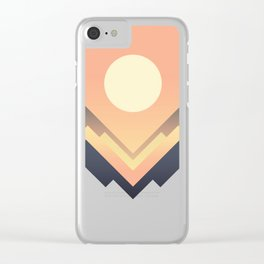 The Sun Rises Clear iPhone Case