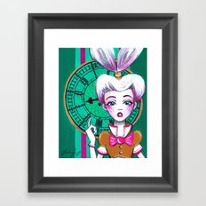 The White Rabbit Framed Art Print