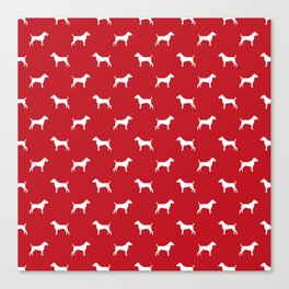 Jack Russell Terrier red and white minimal dog pattern dog silhouette pattern Canvas Print