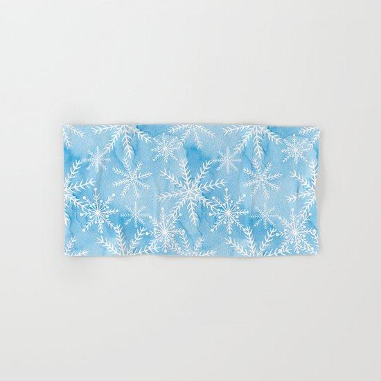 Blue Snowflakes #2 Hand & Bath Towel