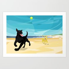 Fetch! Art Print