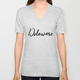Delaware (DE; Del.) Unisex V-Neck