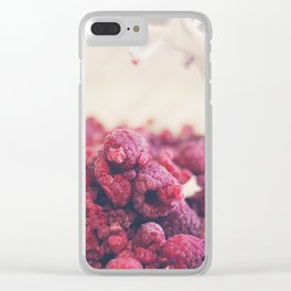 174 - Rasperries Clear iPhone Case