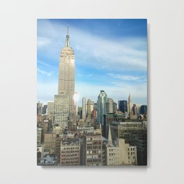 Vie from top of skyscraper in NYC Metal Print