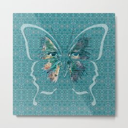 Deep Style Digital Pattern and Butterfly 00 Metal Print