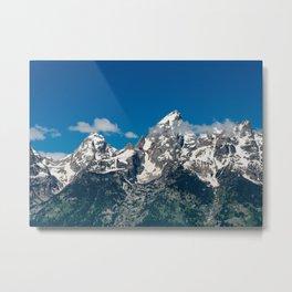 Grand Tetons Panorama Metal Print