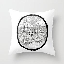 Hogwarts Is My Home (Potter Fan Art) Throw Pillow