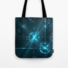 Cyber Pixel Punk Tote Bag