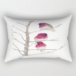 Fuxia birds Rectangular Pillow