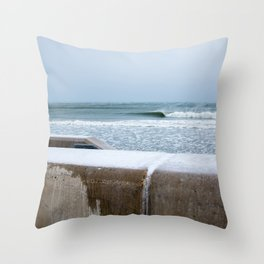 Wave at The Wall Throw Pillow