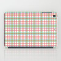 preppy iPad Cases featuring Preppy Plaid by Laura