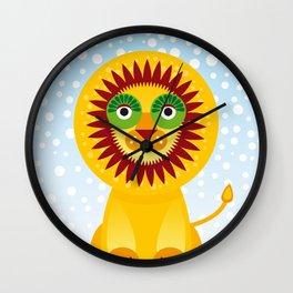 Funny lion Wall Clock