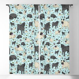 Pug Pattern Blackout Curtain