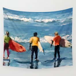 Crown City Surf Kids Wall Tapestry