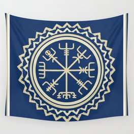 Viking Vegvisir Compass Wall Tapestry