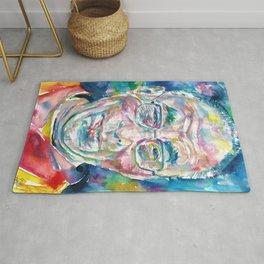 14th DALAI LAMA - TENZIN GYATSO - watercolor portrait.2 Rug