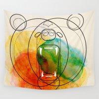 bear Wall Tapestries featuring Bear by Alvaro Tapia Hidalgo