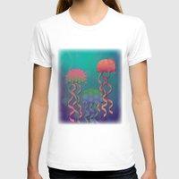 polka dot T-shirts featuring Polka Dot Jellyfish by Graphic Tabby