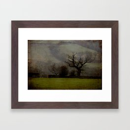 Farndale in rain Framed Art Print