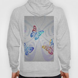 Big Butterflies with grey background Hoody