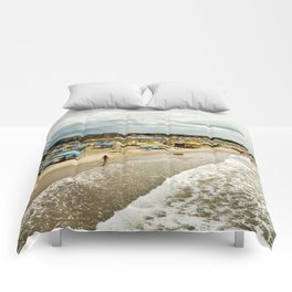 Versilia Italy Beach Ocean Coast View Vertical Comforters