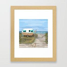 Beach Glamping Camping Framed Art Print