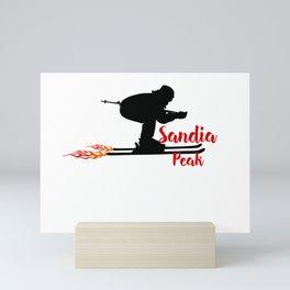 Ski speeding at Sandia Peak Mini Art Print