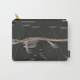Tylosaurus Pembinensis Skeletal Study Carry-All Pouch