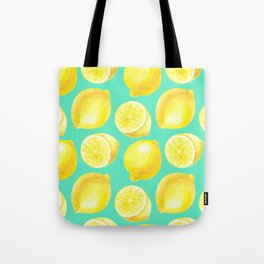 Watercolor lemons pattern Tote Bag