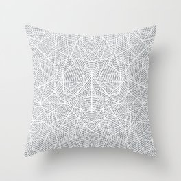 Abstract Lace on Grey Throw Pillow