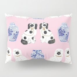 Staffordshire Dogs + Ginger Jars No. 4 Pillow Sham
