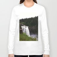 waterfall Long Sleeve T-shirts featuring Waterfall by Sexyshrimp